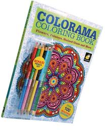Colorama Coloring Book for Adults with 12 Colored Pencils,