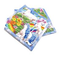 Colorful Potholders, Quilted Hot Pads - Unicorns and