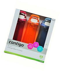Contigo Cortland Autoseal Water Bottles, 24oz-3 Pack