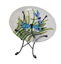 Continental Art Center CAC2409641 Bird Bath Glass Bowl, 13