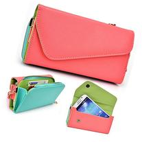 Coral Turquoise Crossbody Case for Micromax A119 Canvas XL,