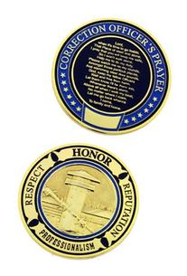 Correction Officer Prayer Challenge Coin - Individual