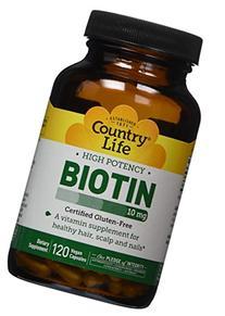 Country Life - Biotin High Potency 10 mg. - 120 Vegetarian