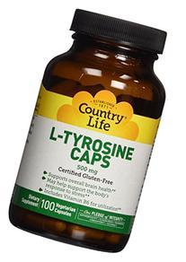 Country Life - L-Tyrosine Caps, 500 mg, 100 capsules