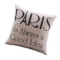 CoolDream Cotton Linen Decorative Pillowcase Throw Pillow
