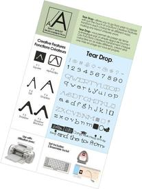 Cricut Tear Drop Cartridge Alphabet & Words