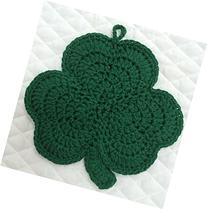 Crocheted Green Shamrock Pot Holder for St Patrick's Day ~