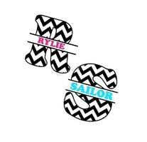 Custom Personalized Chevron Monogram Wall Art Vinyl Decal