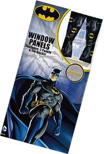 DC Comics Batman Window Drapes Curtains Panels, Set of 2,