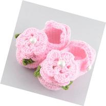DDU 1Pair Baby Infant Newborn Soft Warm Handmade Wool Knit