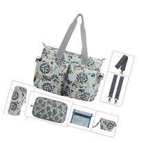 Damero Floral Designer Diaper Tote Bags