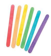 Darice 9150-82 Wood Craft Colored Stick, 4-1/2-Inch, 120-
