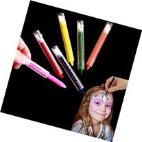 Dazzling Toys Colored Face Paint Crayon Sticks - Pack of 12