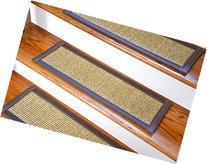 Dean Attachable Non-Slip Sisal Carpet Stair Treads - Desert/