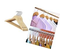 Decor Hut Wooden Suit Hangers with Bar to Keep Pants, Swivel