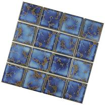 Delta Square Azure 12 1/2 x 12 1/2 Inch Porcelain Floor and