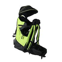 Deluxe Green Baby Back Pack Cross Country Carrier w/ Stand