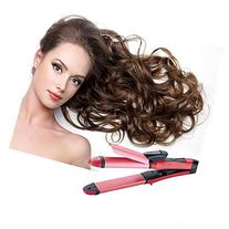 Denshine® 2 in 1 Curler & Straightener Hot Hair Iron