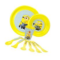 Despicable Me Minions Toddler Dinnerware 9 Piece Set, with