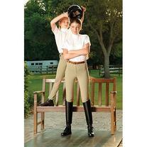 Devon-Aire Women's All-Pro Pull-On Beige Riding Breeches,