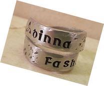 Dinna Fash Hand Stamped Twist Wrap Ring