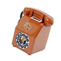 Doinshop Telephone Shape Savings Storage Coin Money Case