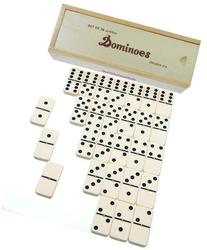 Dominoes Jumbo Tournament Off-White color with Black Pips _