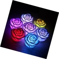 Domire 12 Pcs Fancy Colorful Changing LED Rose Flower