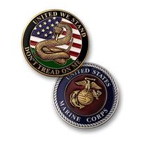Don't Tread on Me - Marines Challenge Coin