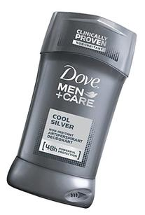 Dove Men + Care Cool Silver Antiperspirant Deodorant 2.7 Oz