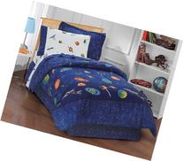 Dream Factory Outer Space Satellites Boys Comforter Set,
