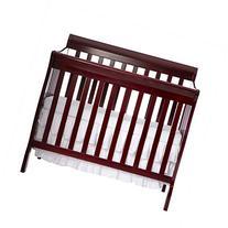 Dream On Me 4 in 1 Aden Convertible Mini Crib, Cherry