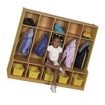 ECR4Kids Colorful Essentials 5-Section Coat Locker with