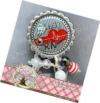 EKG Tech Retractable Badge Holder, Cardiac Reel for Nurses,