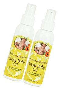 Earth Mama Angel Baby, Angel Baby Oil, 4 Ounce - 2 Pack