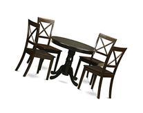 East West Furniture HLBO5-CAP-W 5-Piece Kitchen Nook Dining