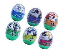 Easter eggs filled with Building Brick blocks toys. 6 eggs