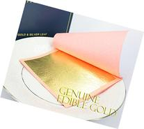 Edible Genuine Gold 23.75K 10 Sheets, 3 1/8 x 3 1/8