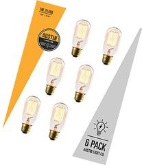 Edison light bulb - 6 Pack - The Zilker - 40 Watt Bulb -