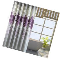 Eforgift 72-inch By 78-inch Floral Printed Shower Curtain