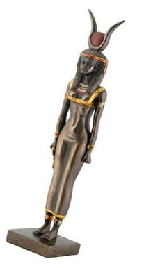 Egyptian Bronze Isis Collectible Statue