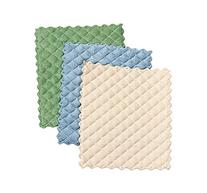 Envision Home 3-Pack Microfiber Quilted Kitchen Dish Cloths