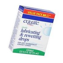 Equate: Sterile Lubricating & Rewetting Drops For Soft