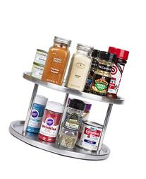 Estilo Stainless Steel Lazy Susan - 2 Tier Design, 360-