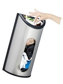Estilo Wall Mount Bag Saver, Holder, and Dispenser, Brushed