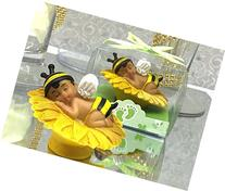 Ethnic Baby Shower Baby Boy Bumble Bee Favor or Cake Topper