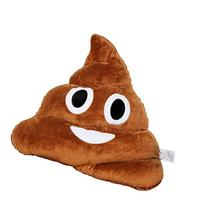 EvZ 35cm Emoji Poo Emoticon Brown Triangle Cushion Stuffed