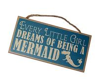 Every Little Girl Dreams of Being A Mermaid 5 x 10 Wood Wall