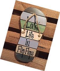FLIP FLOP Sign Reclaimed Wall Pallet Lovin Life in Flip