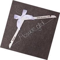 FLower Girl Wire Hanger, Bride Hanger-Last Name Hanger,Mrs